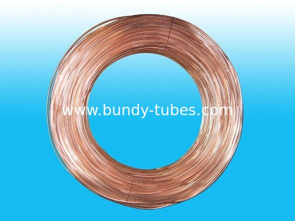Double Wall Steel Strip Air Conditioning Copper Tubing 4.76 * 0.5 mm