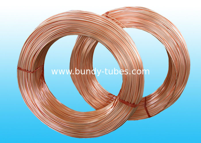 Refrigeration Copper Tube , Low carbon  Steel Bundy Tube 4.76 * 0.7 mm