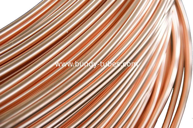 Refrigeration Copper Tube , Single wall  Steel Pipes 4.76 * 0.65 mm