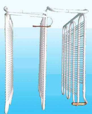 China _ Wire On Tube Refrigerator Evaporator with 0.6mm Thickness usine